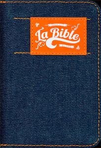 9782608120878, version, segond, 21, s21, la, sainte, bible, couverture, bleue, jeans, fermeture, à, glissière, orange, éditions, mb, la, maison, de, la, bible, sbg, société, biblique, de, genève