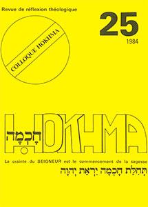 HOK25, hokhma, crainte, seigneur, sagesse