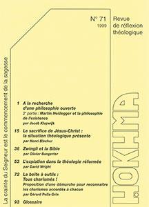 HOK71, hokhma, philosophie, zwingli, expiation