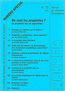 HOK72, hokhma, prophétie, prédication, pneumatologie