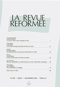 revue réformée 235