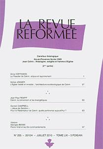 revue réformée 255