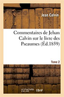 9782011870261, commentaires, psaumes, jean calvin