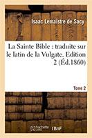 9782012683983, bible, vulgate, lemaistre de sacy