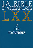 septante, alexandrie, bible, cerf, proverbes, 9782204064866