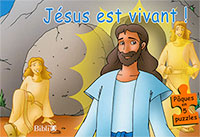 9782853004633, jésus, christ, est, vivant, pâques, en, 5, puzzles, enfants, enfance, jeunesses, éditions, biblio, sbf, société, biblique, française