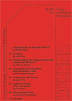 HOK63, hokhma, apologétique, éthique, écriture