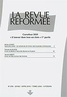 revue réformée, michel johner, yannick imbert