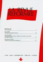 revue réformée, egbert brink, jean-rené moret