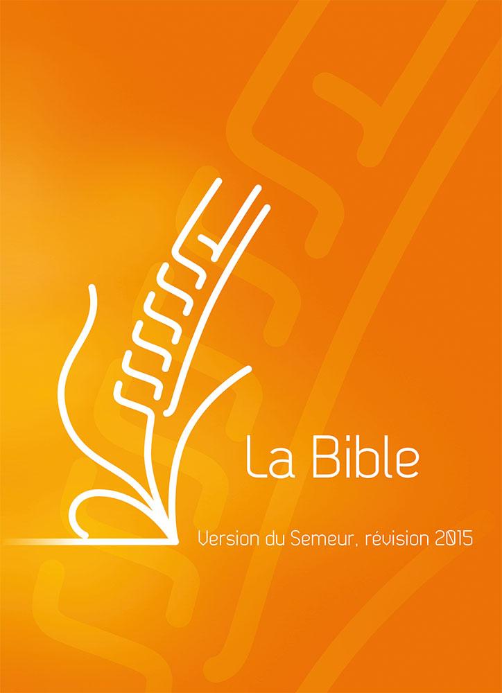 Super Bible du Semeur 2015, orange, tranche blanche Couverture rigide  ML51
