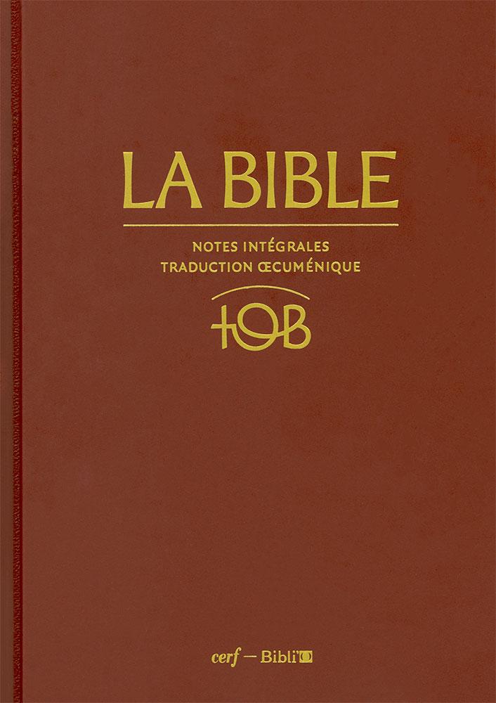 TOB SAINTE TÉLÉCHARGER LA BIBLE