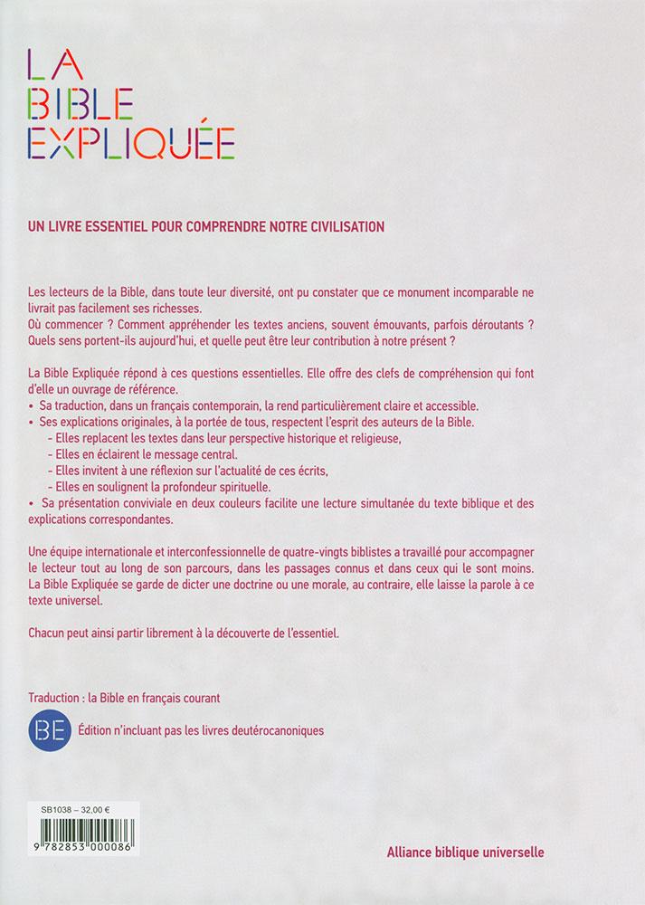 Fc la bible expliqu e en fran ais courant couverture for Portent traduction francais