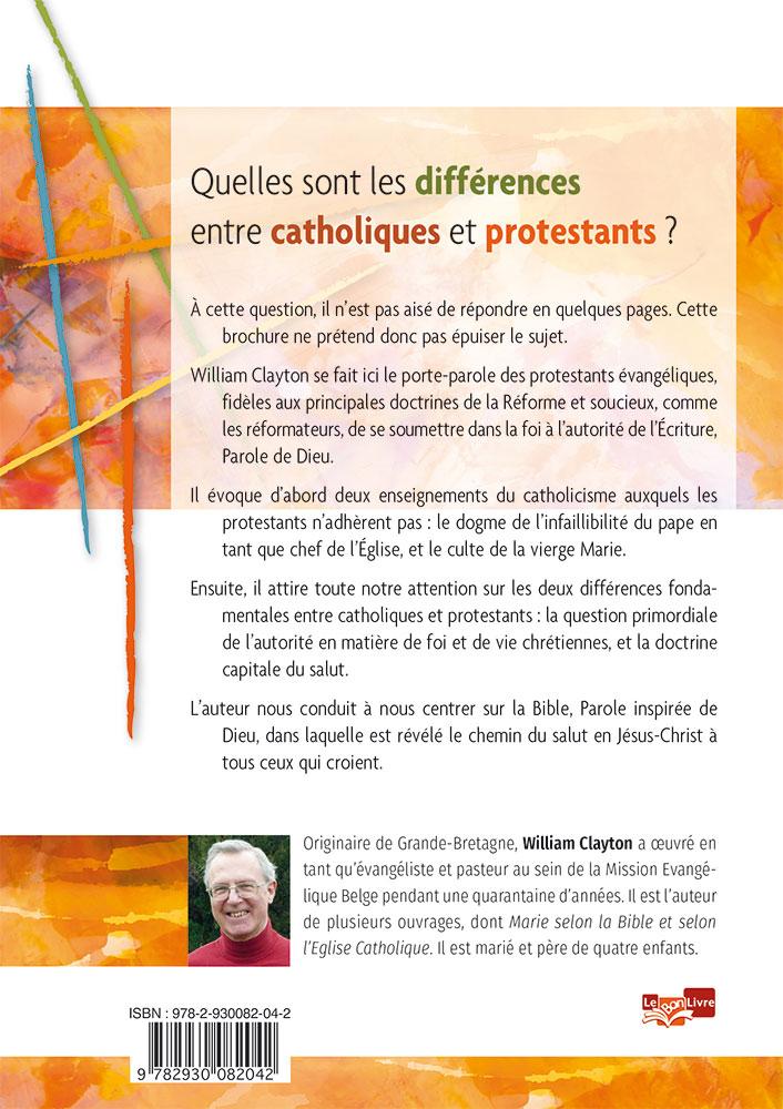Les diff rences entre catholiques et protestants - Difference entre sommaire et table des matieres ...